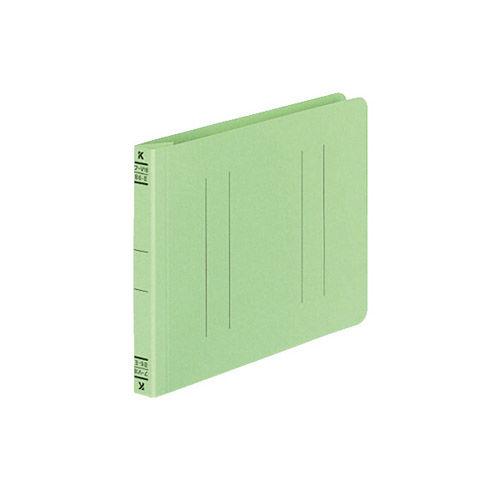 コクヨ フラットファイルV(樹脂製とじ具) B6横 15ミリとじ 緑 フ-V18G