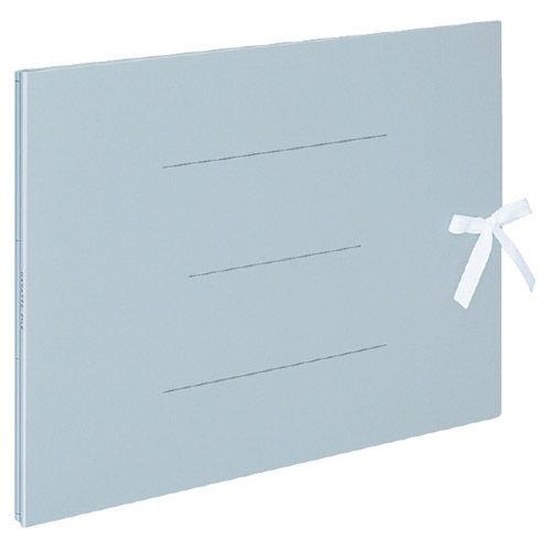 コクヨ ガバットファイル(紙製・ひも付) A3横 1~100ミリとじ 青 フ-H948B