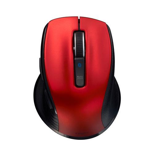 ナカバヤシ 無線マウス Digio2 F_line ワイヤレス Bluetooth 静音 BlueLEDマウス 小型 Sサイズ 5ボタン レッド 48401