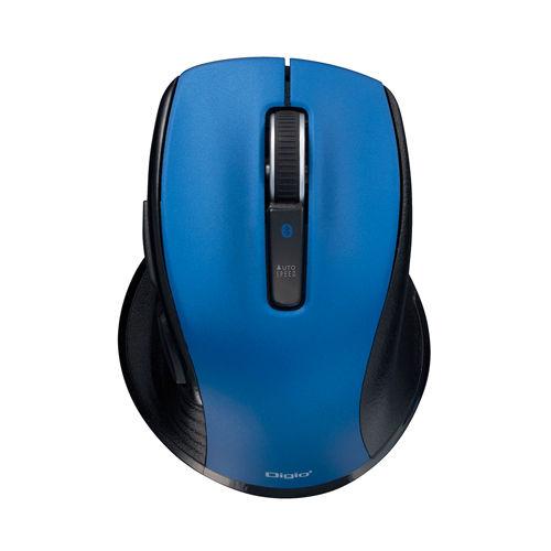 【売切れ御免】ナカバヤシ 無線マウス Digio2 F_line ワイヤレス Bluetooth 静音 BlueLEDマウス 小型 Sサイズ 5ボタン ブルー 48400