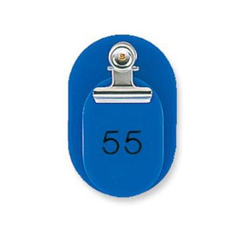 共栄プラスチック 親子番号札 51~100番 ブルー 大小2枚組 CT-1-51-B