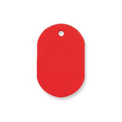 共栄プラスチック プラスチック番号札 番号なし 小 レッド 50枚入 NO.9C-R