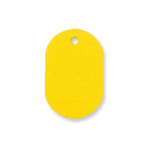 共栄プラスチック プラスチック番号札 番号なし 小 イエロー 50枚入 NO.9C-Y