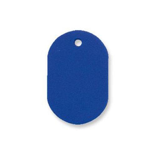 共栄プラスチック プラスチック番号札 番号なし 大 ブルー 50枚入 NO.16C-B