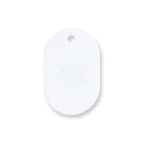 共栄プラスチック プラスチック番号札 番号なし 大 ホワイト 50枚入 NO.16C-W