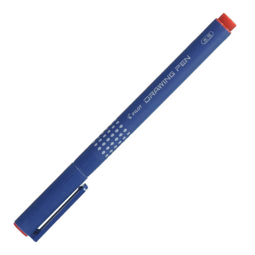 パイロット 水性ペン ドローイングペン08 0.8mm レッド S-15DRN8-R