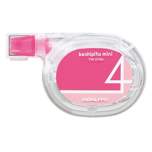 コクヨ 修正テープ ケシピタミニ ヨコ引き 4mm×6m ピンク TW-274