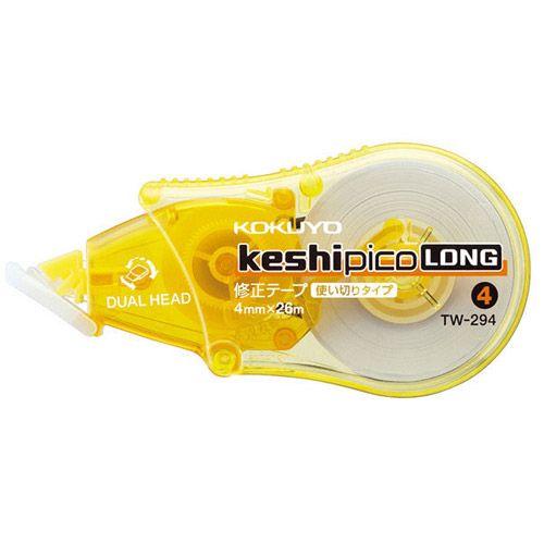 コクヨ 修正テープ ケシピコロング タテ引き 4mm×26m 黄 TW-294