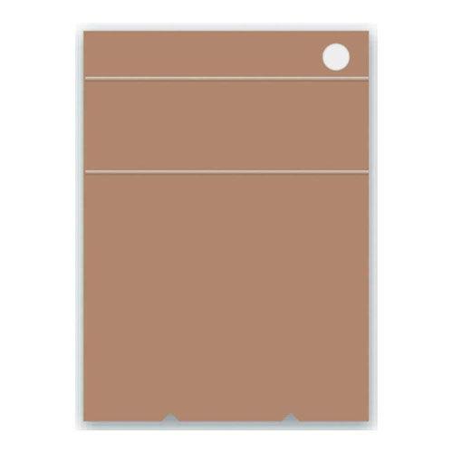 アピカ 無地表紙ペン立てメモ ブロックメモ 95×130 B7変型 茶 ME7CN