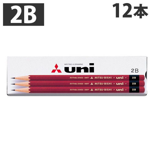 三菱鉛筆 鉛筆 ユニK 1ダース(12本) 2B 紙箱 UK2B
