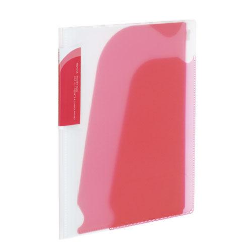 コクヨ ノビータ ポケットブック チャックポケット付き A5タテ 透明ピンク ラ-N202P