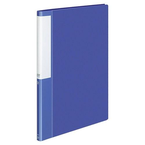 コクヨ POSITY クリヤーブック 固定式 中紙あり 20ポケット A4タテ ブルー ラ-L20NB