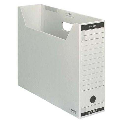 コクヨ ファイルボックス-FS Bタイプ 色厚板紙 B4横 グレー 1冊 B4-LFBN-M