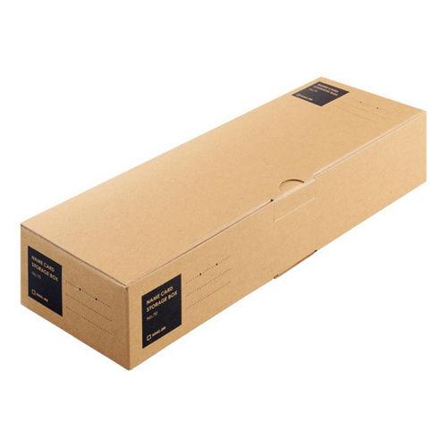 キングジム 名刺保存ボックス 1100枚収容 茶色 70