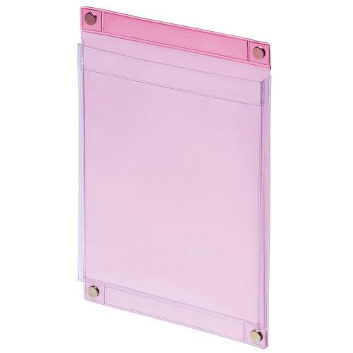 ライオン事務器 マグネットポケット A5判 MP-C5 透明ピンク
