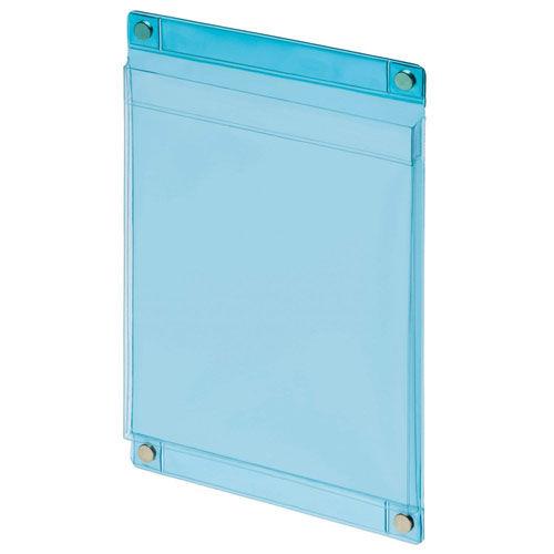 ライオン事務器 マグネットポケット A5判 MP-C5 透明ブルー