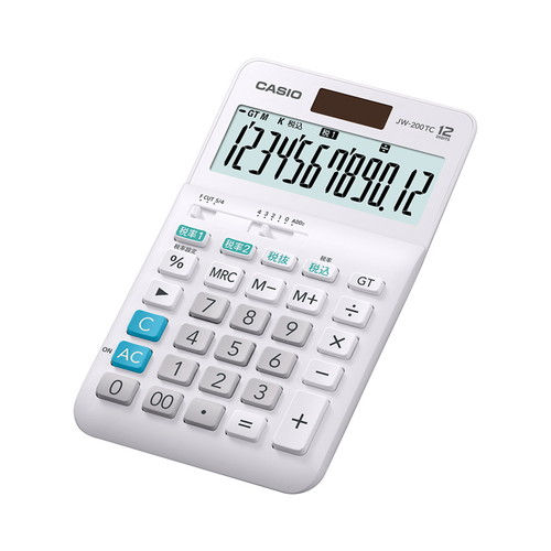 カシオ計算機 W税率対応 電卓 12桁 JW-200TC
