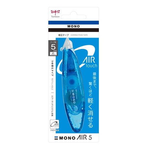 トンボ鉛筆 修正テープ モノエアーペン ブルー CT-PAX5C40