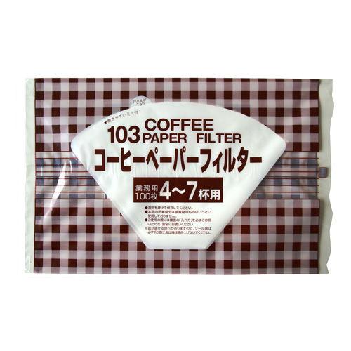 セイコー珈琲 コーヒーフィルターペーパー 白4~7杯用