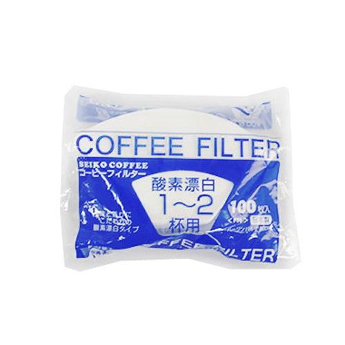 セイコー珈琲 コーヒーフィルター 1~2杯用 白 F01