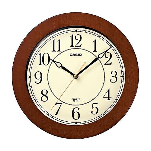 カシオ計算機 掛時計 木枠掛時計 ブラウン IQ-131-5JF