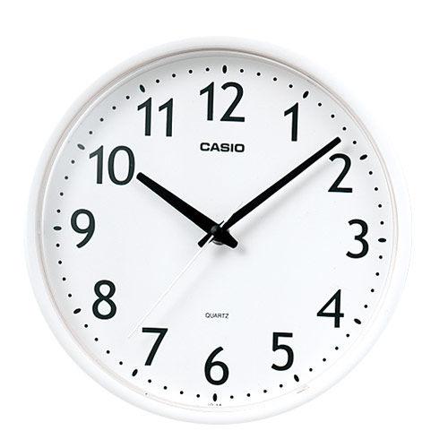 カシオ計算機 掛時計 ホワイト IQ-58-7JF