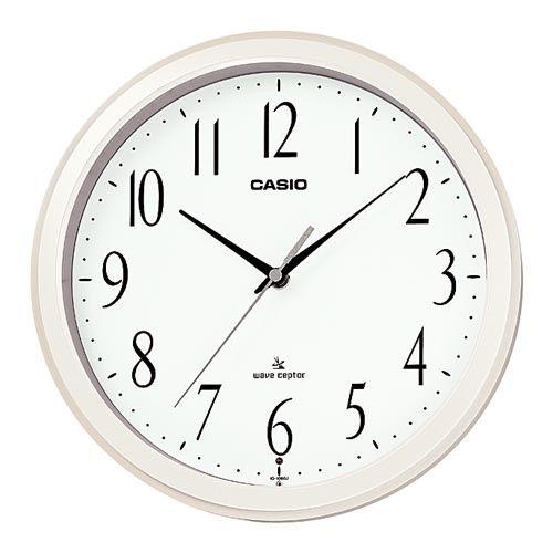 カシオ計算機 掛時計 電波時計 パールホワイト IQ-1060J-7JF