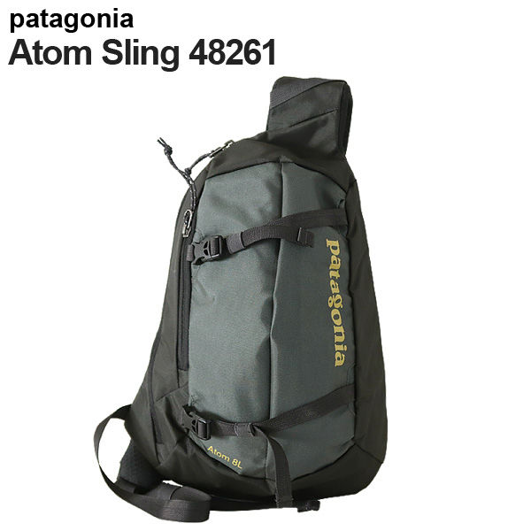 Patagonia バックパック アトムスリング 8L フォージグレー/テキスタイルグリーン 48261