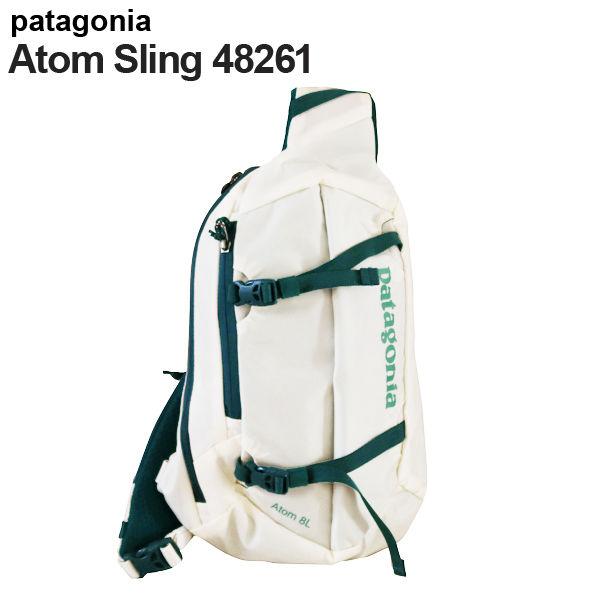 Patagonia ボディバッグ アトムスリング 8L バーチホワイト× タイダルティール 48261