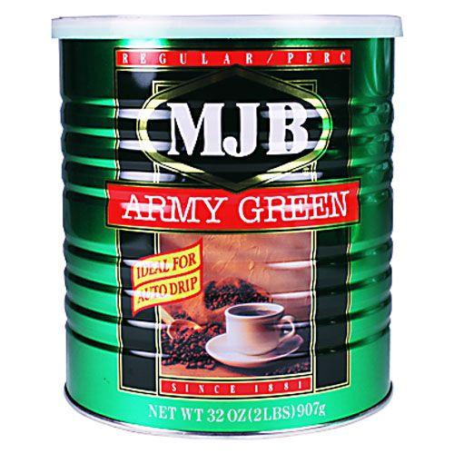 MJB アーミーグリーン缶 907g