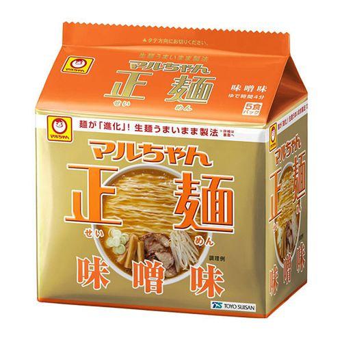 マルちゃん正麺 味噌味 108g×5食