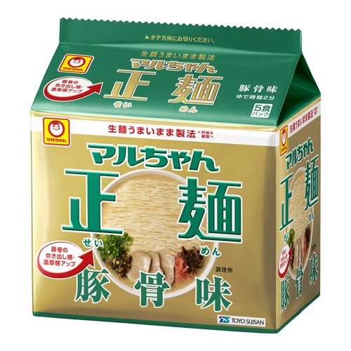 東洋水産 マルちゃん正麺 豚骨味 88g 5食