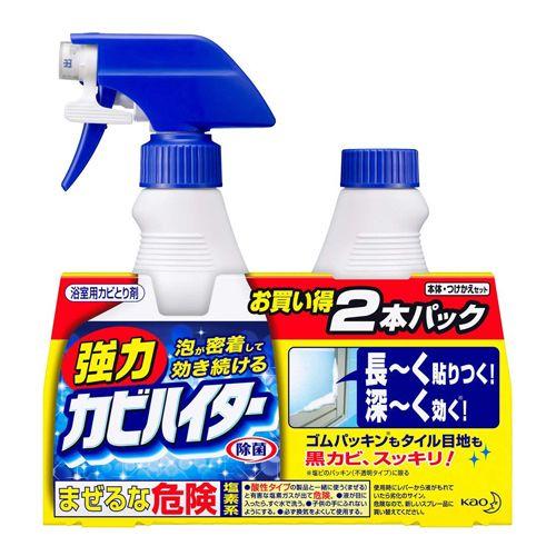 花王 カビ取り剤 ハイター 強力カビハイター 本体+付替用 ペアセット 400ml+400ml