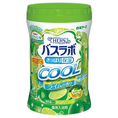 白元アース 入浴剤 HERSバスラボ ボトル クール ライムの香り 640g【医薬部外品】