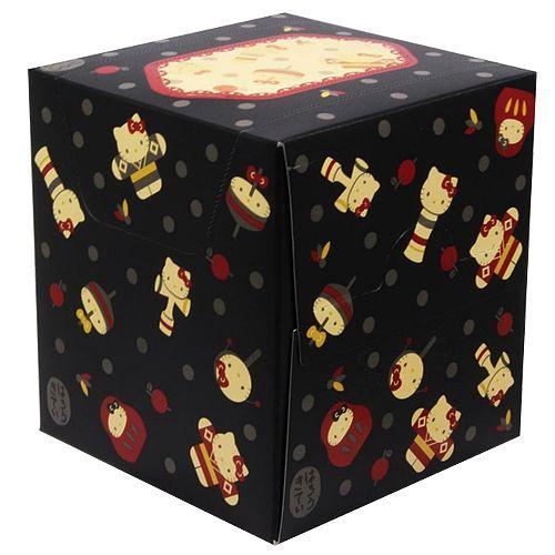 山善 ティッシュペーパー ハローキティ ペンBOXティシュー 和柄 2枚重ね 80組(160枚)