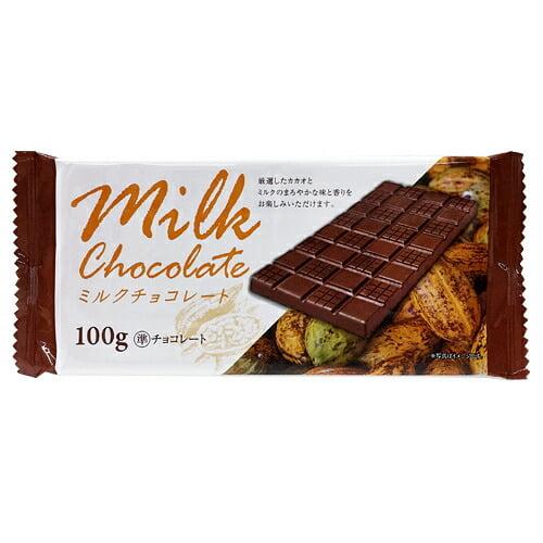 【賞味期限:20.10.11】ドウシシャ 板チョコ ミルク 100g