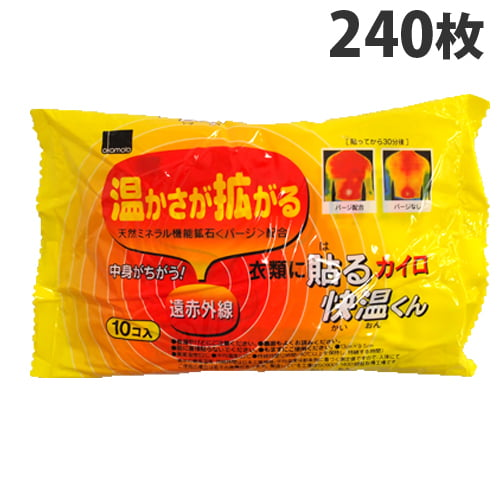【使用期限:21.12.31以降】オカモト 貼るカイロ 快温くん レギュラーサイズ 240枚