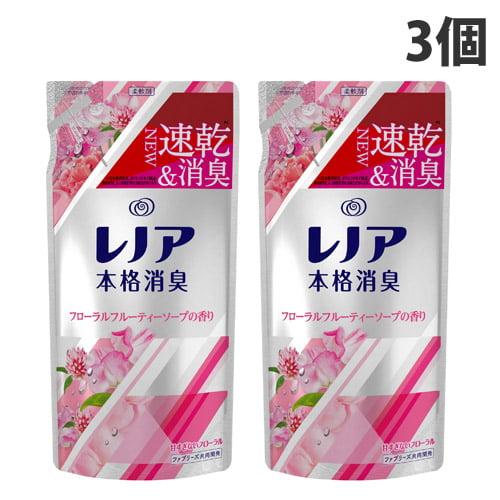 P&G 柔軟剤 レノア 本格消臭 フローラルフルーティソープ 詰替 450ml×3個