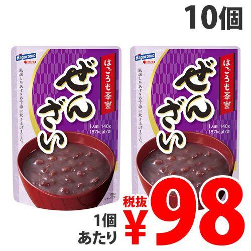 【賞味期限:21.11.14】はごろもフーズ 茶寮 ぜんざい 140g×10個