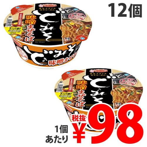 【賞味期限:21.02.26】エースコック 一度は食べたい名店の味 ど・みそ 味噌まぜそば 138g×12個