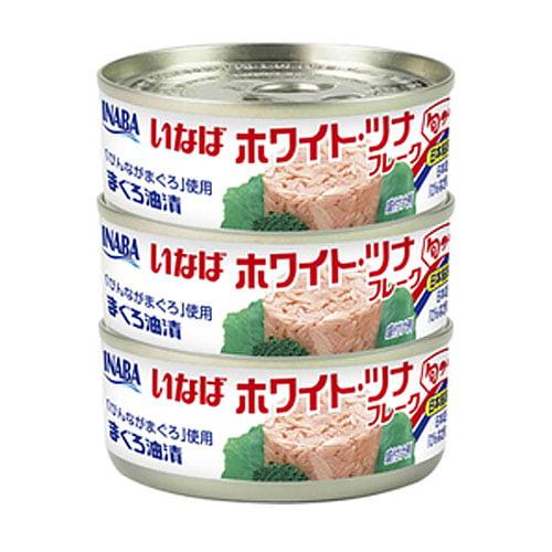 【賞味期限:23.09.14】いなば ホワイトツナフレーク 70g×3缶