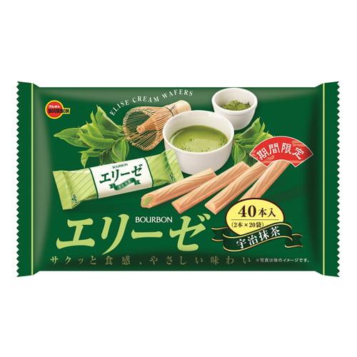 【賞味期限:22.03.31】ブルボン エリーゼ 宇治抹茶 40本入