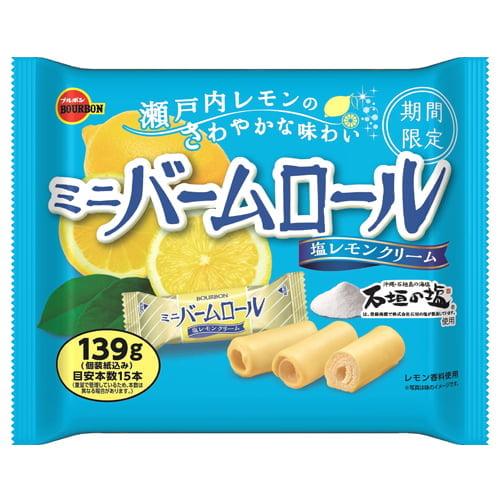 【賞味期限:22.01.31】ブルボン ミニバームロール 塩レモンクリーム 139g