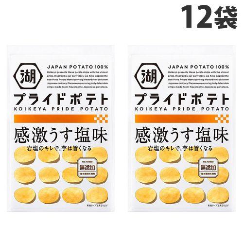 【賞味期限:21.11.10】湖池屋 プライドポテト 感激うす塩味 60g×12袋
