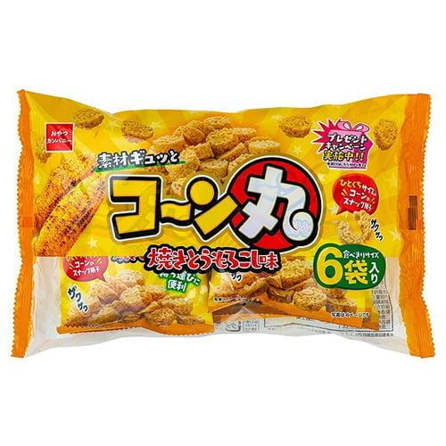 【賞味期限:21.10.14】おやつカンパニー コーン丸 焼とうもろこし味 6P