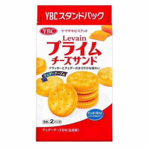 【賞味期限:22.04.30】ヤマザキビスケット ルヴァンプライム チーズサンド チェダーチーズ 18枚入