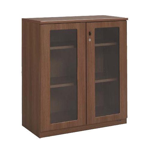 オカムラ 棚 エグゼクティブ ガラス書棚(ロータイプ) ネオウッドダーク DX05BL-MK19