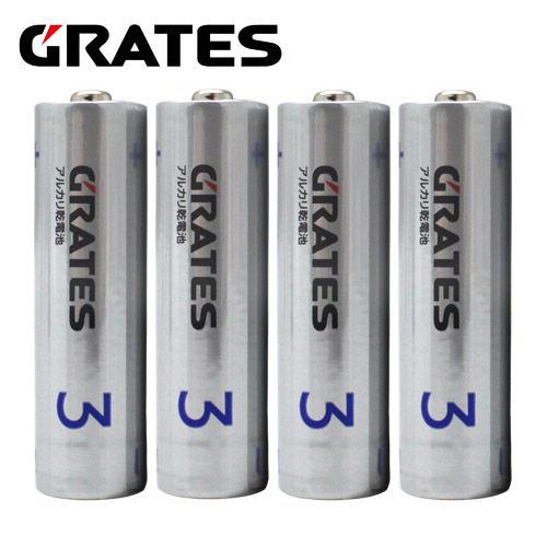 アルカリ乾電池 GRATES(グラテス) 単3形 4本
