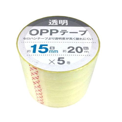 OPPテープ 15mm×20m 5巻入 1451