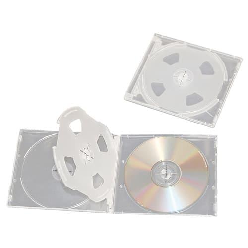 ソフトケース CD&DVD 4枚収納 2個 XC-498C